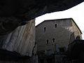 050 Casa del priorat de Sant Miquel del Fai, façana nord, vora el cingle.JPG