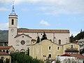 074 Santa Maria i Can Gili (Caldes d'Estrac), des del parc de Can Muntanyà.JPG