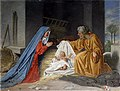 0 'La Nativité' - Fresque du porche de S. Maria in Trastevere 2.JPG