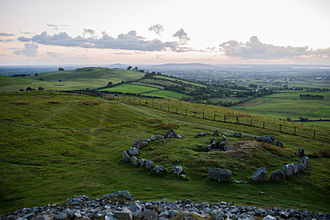 Loughcrew - View from the top of one of the tombs