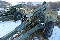 105 mm M101 howitzer Saluttkanoner Kronprinsessens bastion Kristansten festning Trondheim 2019-03-11 (These salute cannons were replaced in November 2019) 07902.jpg