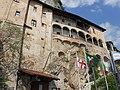 107 - ITALY - Lago Maggiore - Lake Maggiore - Eremo di Santa Caterina July 2012 Flags.JPG