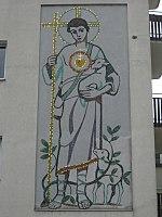 1160 Klausgasse 18 - Sgraffito Jesus der gute Hirte IMG 2604.jpg