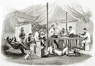 22nd Punjabis - Image: 11th Punjab Infantry (7 Punjab) at Pehtang China 1860 by C Wirgman, ILN, 1860