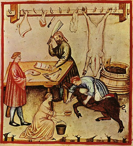 a medieval European butcher (c. 14th century) - Medieval European Nutrition