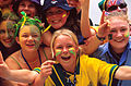 141100 - Audience Australian fans cheer - 3b - 2000 Sydney public photo.jpg