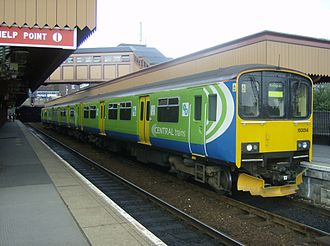 West Midlands Passenger Transport Executive - Class 150 in the later Centro livery at Brmingham Moor Street in September 2007