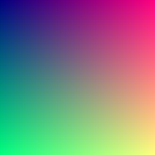 when viewed in full size this image contains about 16 million pixels each corresponding to a different color on the full set of rgb colors