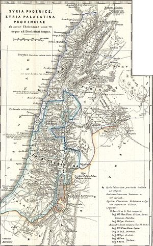 1865 Spruner Map Israel or Palestine post 70 AD
