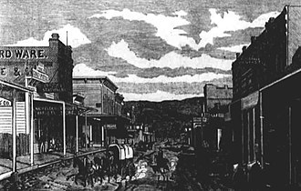 The Dalles, Oregon - Second Street circa 1880