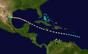 1895 Atlantic hurricane season - Image: 1895 Atlantic hurricane 2 track