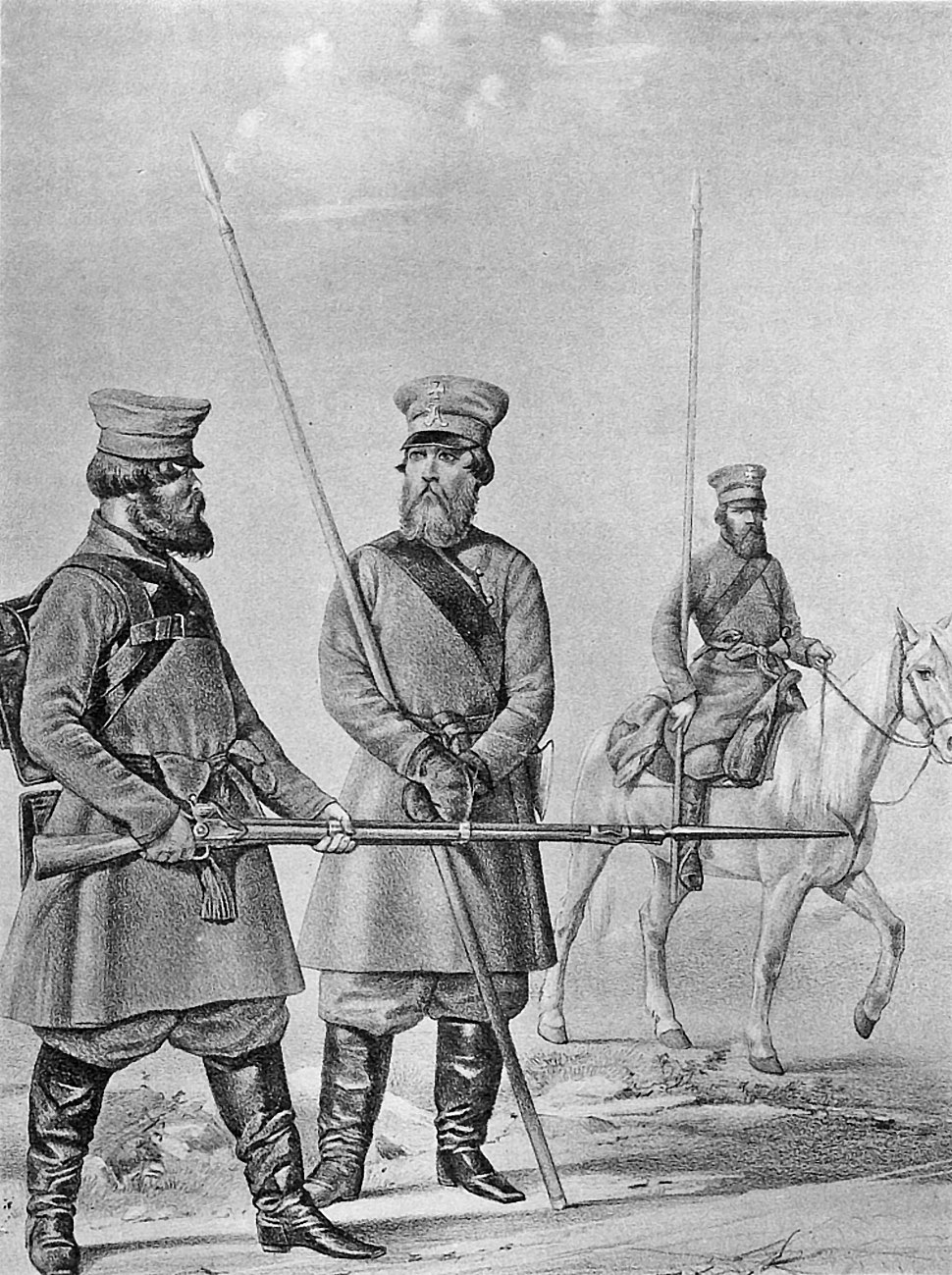 18 2531 Book illustrations of Historical description of the clothes and weapons of Russian troops