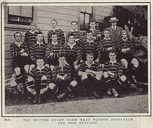 Blair Swannell - 1904 British Isles team, Swannell is back row, second left