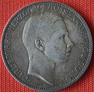 Charles Edward, Duke of Saxe-Coburg and Gotha - Charles Edward on a 5 Mark coin from 1907