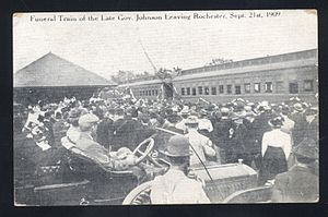 John Albert Johnson - Governor Johnson's funeral train leaving Rochester, Minnesota