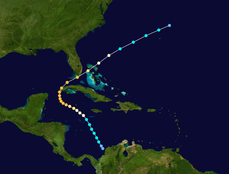 File:1909 Atlantic hurricane 11 track.png