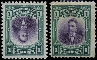 Bartolomé Masó - Bartolomé Masó on a 1910 Cuban stamp