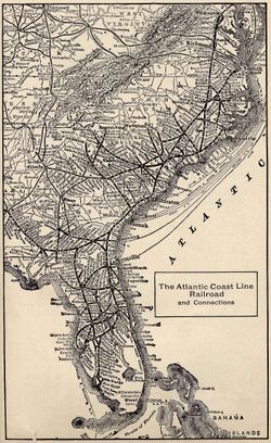 Atlantic Coast Florida Map.Atlantic Coast Line Railroad Wikipedia