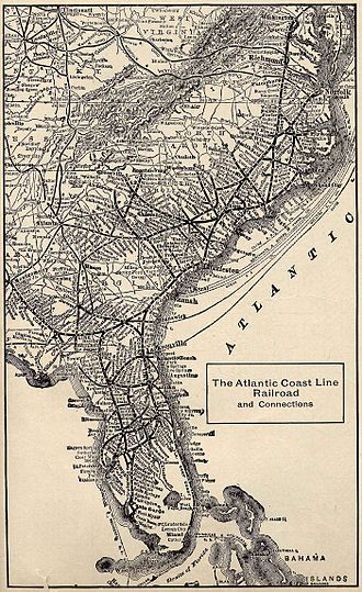 Atlantic Coast Line Railroad - Image: 1914 ACL