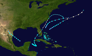 1925 Atlantic hurricane season - Image: 1925 Atlantic hurricane season summary map