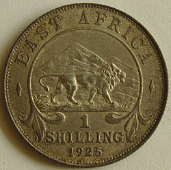 1925 East African 1 Shilling coin reverse.jpg