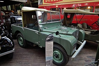 Land Rover series - 1948 Land Rover pre-production number R04; at the National Motor Museum in Beaulieu, Hampshire, England.