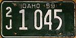 1959 Idaho license plate.JPG