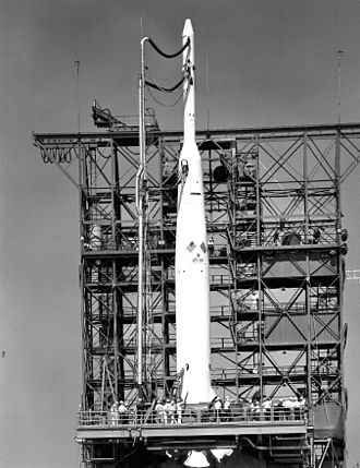 British space programme - US Delta 9 rocket with UK first satellite Ariel 1, 26 April 1962