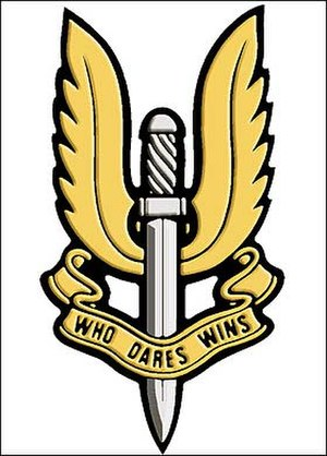5th Special Air Service - Crest and Cap Badge of the 5th Special Air Service