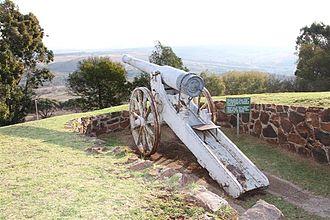 155 mm Creusot Long Tom - Long Tom replica at Fort Klapperkop