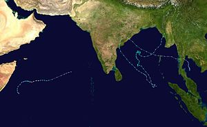 2003 North Indian Ocean cyclone season - Image: 2003 North Indian Ocean cyclone season summary