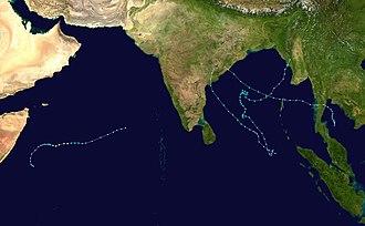 2003 North Indian Ocean cyclone season - Image: 2003 North Indian Ocean cyclone season summary