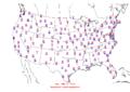 2006-01-23 Max-min Temperature Map NOAA.png