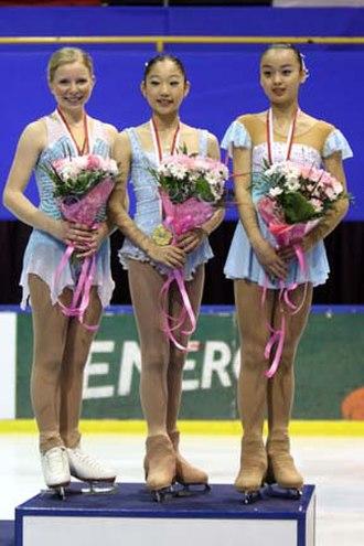 2007–08 ISU Junior Grand Prix - The ladies' podium at the Final