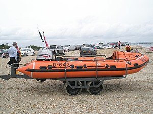 D-class lifeboat (IB1) - RNLB Amanda, James and Ben (D-642) based in Hayling Island.