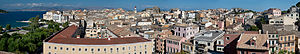 Corfu (city) - Panoramic view of the old town