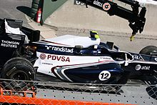 Photographie de la monoplace Williams FW33 au Grand Prix automobile d'Espagne
