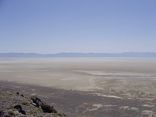 dry lake in Churchill County, Nevada, USA