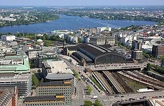 Hamburg Hauptbahnhof railway station for the German city of Hamburg