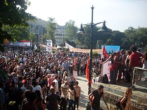 Turkey - A view from the Gezi Park protests  a view from Taksim Square, Istanbul on 4 June 2013.