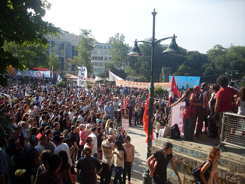 2013 Taksim Gezi Park protests, a view from Taksim Gezi Park on 4th June 2013 3