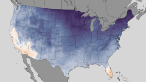 2013–14 North American winter - A temperature map of the frigid conditions in the United States on January 2–4, 2014