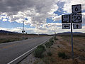 2014-08-09 15 31 52 View west along U.S. Routes 6 and 50 about 93.9 miles east of the Nye County line at the junction with Nevada State Route 487 (Baker Road) in White Pine County, Nevada.JPG