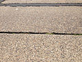 2014-08-27 13 02 55 The surface of Parkway Avenue (Mercer County Route 634) near the Delaware and Bound Brook Railroad underpass, with concrete pavement likely dating to the 1950s.JPG