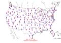 2015-10-25 Max-min Temperature Map NOAA.png