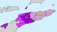 Location of the Diocese of Díli