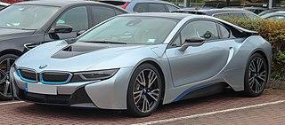BMW i8 Plug-in hybrid sports car developed by BMW