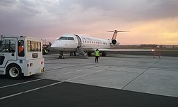 2017-09-11 N910SW parked at STS with sunset