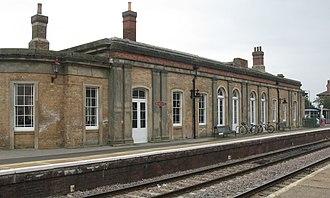Newark Castle railway station - The station building on Platform 1