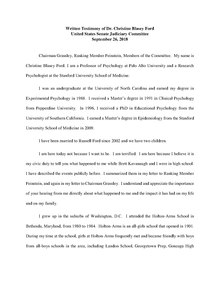 PDF document of Ford's written testimony